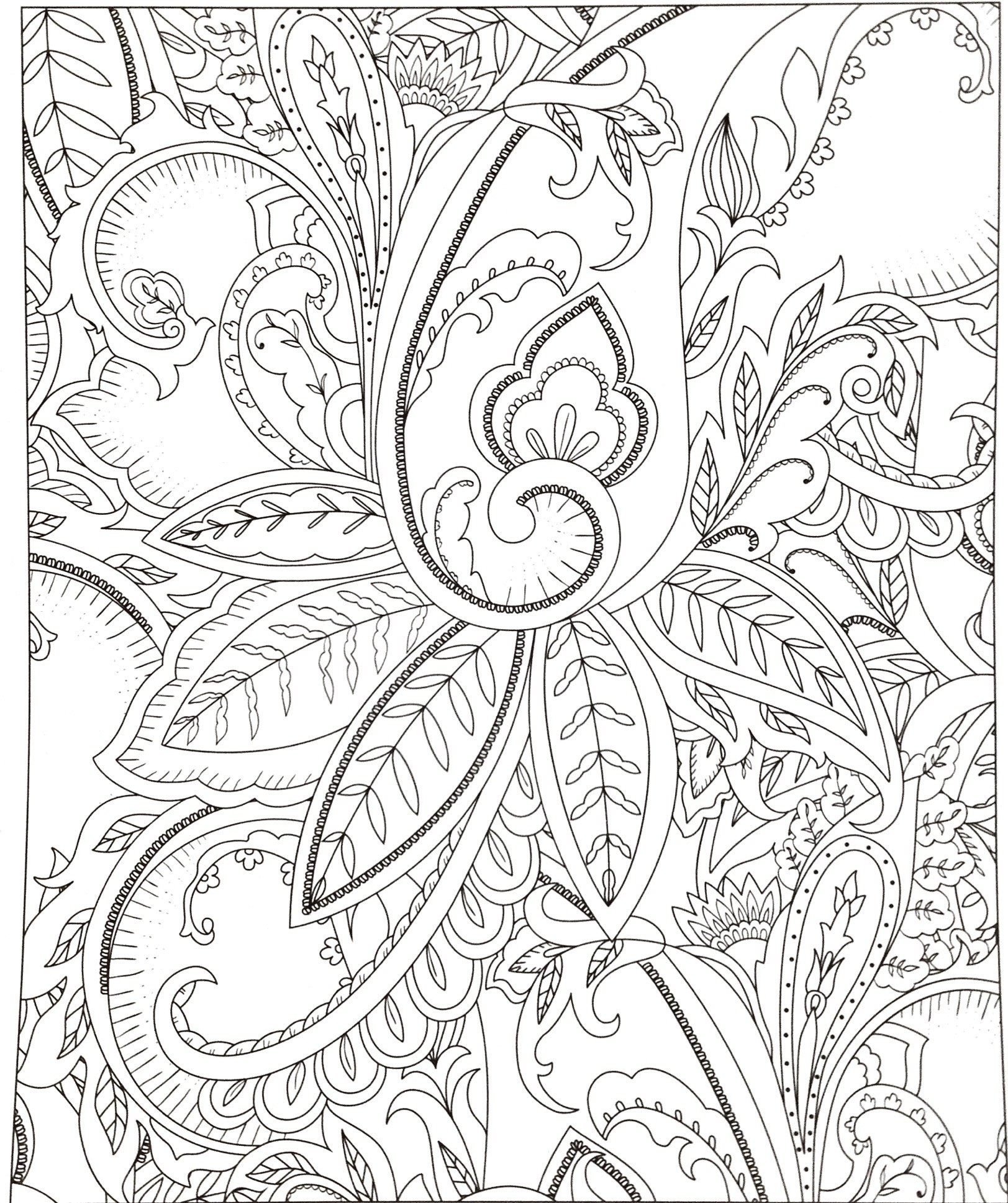Free Printable Zentangle Coloring Pages  to Print 6g - To print for your project