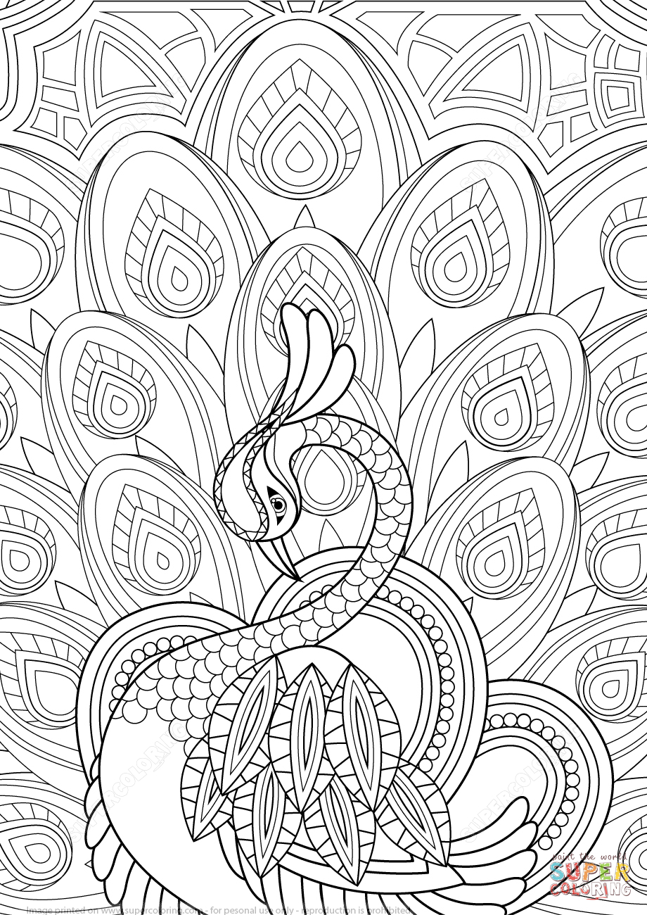 Free Printable Zentangle Coloring Pages  to Print 5n - Save it to your computer