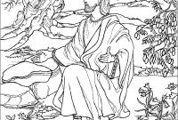 Garden Coloring Pages - Printable Jesus Praying In the Garden Gethsemane Coloring Pages