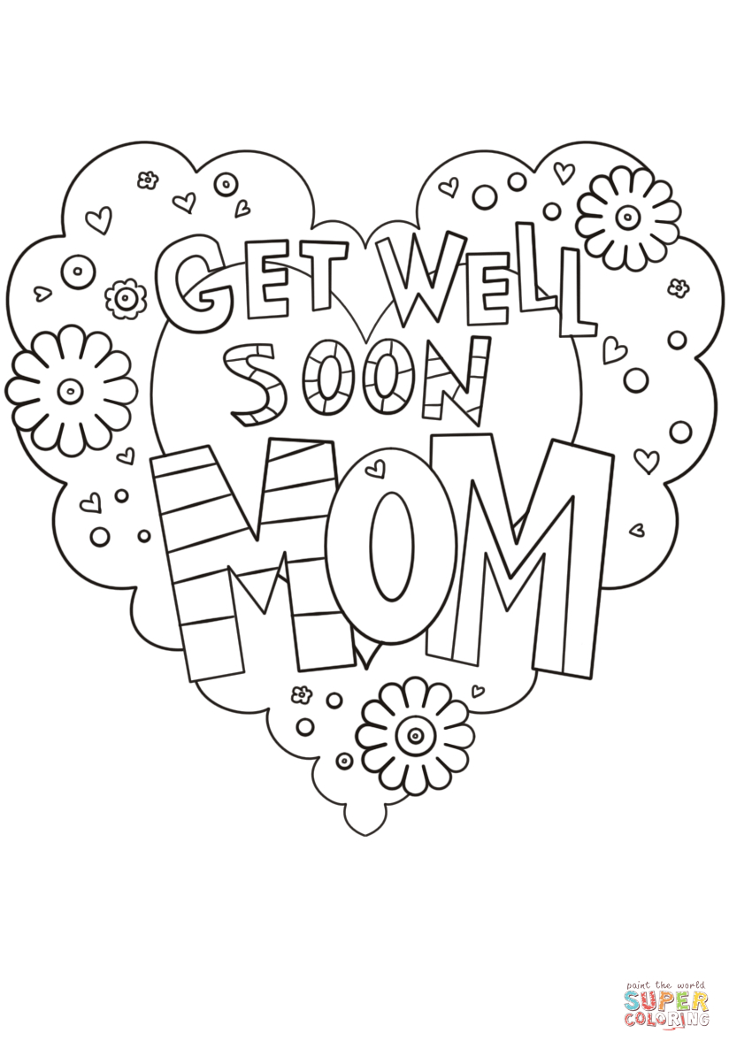 Get Well soon Coloring Pages  to Print 15g - Free Download