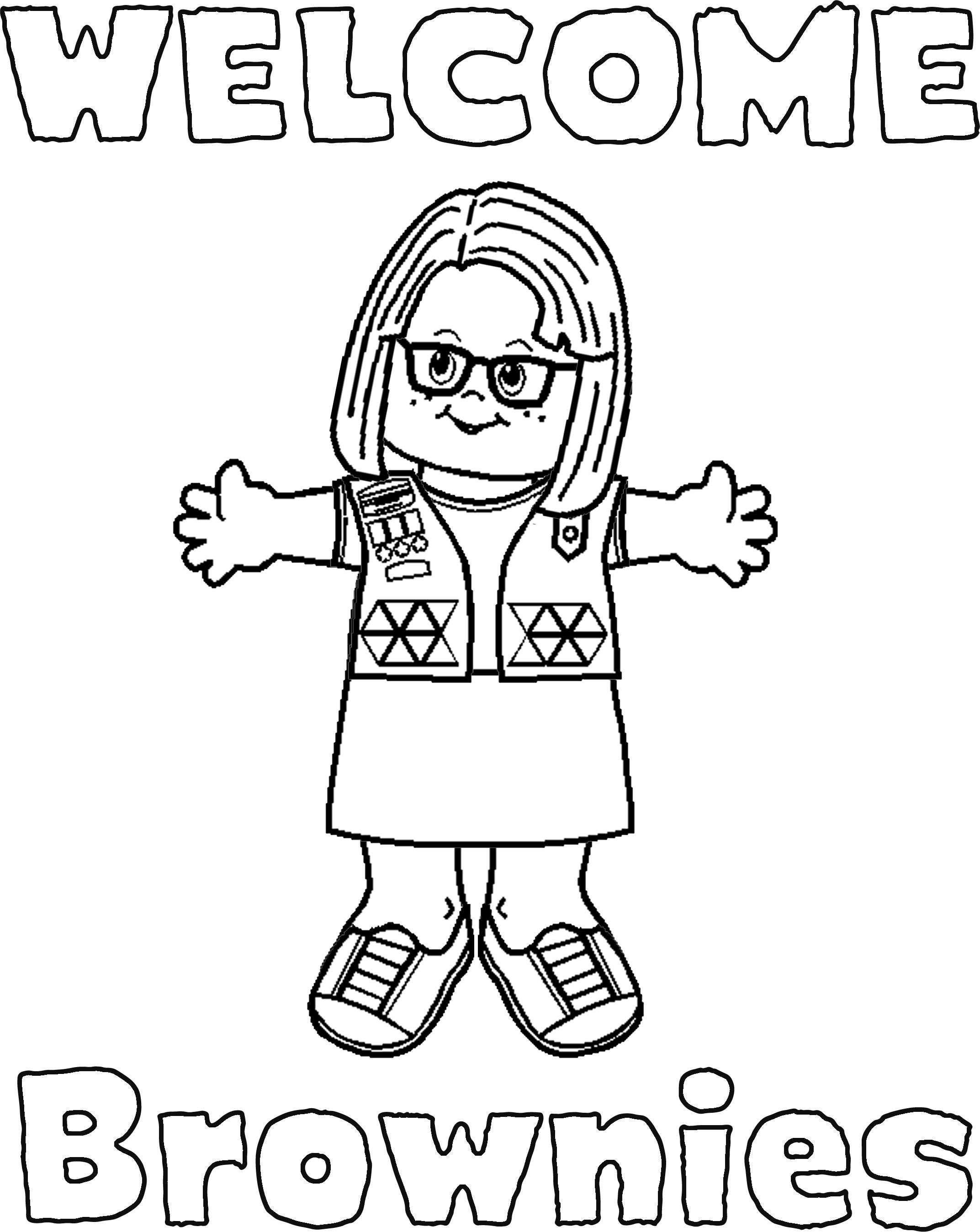 Girl Scout Brownie Coloring Pages  to Print 10q - To print for your project
