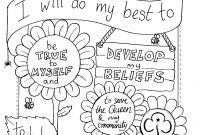 Girl Scout Coloring Pages - Girl Scout Law and Promise Coloring Pages