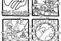 Girl Scout Law Coloring Pages - Collection Of Girl Scout Brownie Coloring Pages