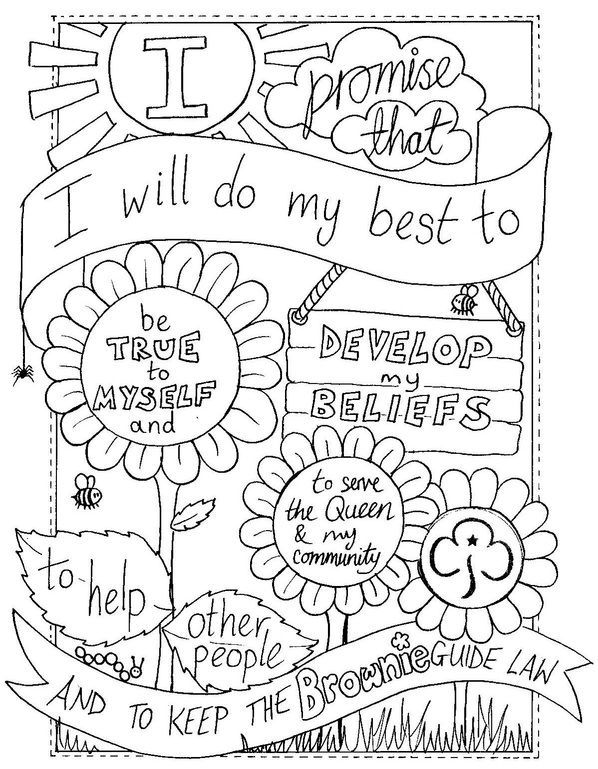 Girl Scout Law Coloring Pages  Gallery 20l - To print for your project