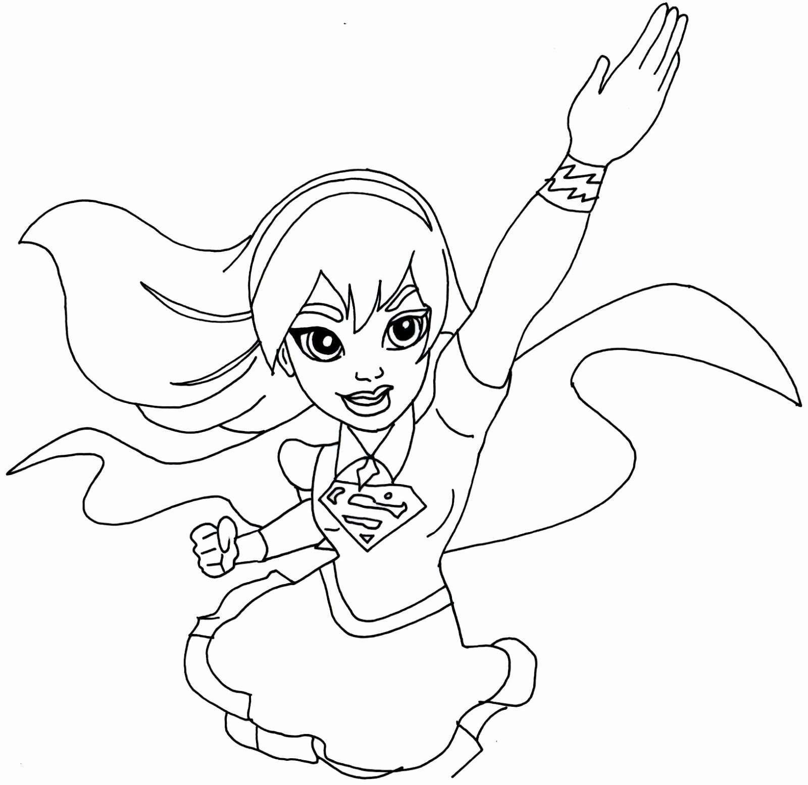 Girl Superhero Coloring Pages  to Print 17d - Free For kids