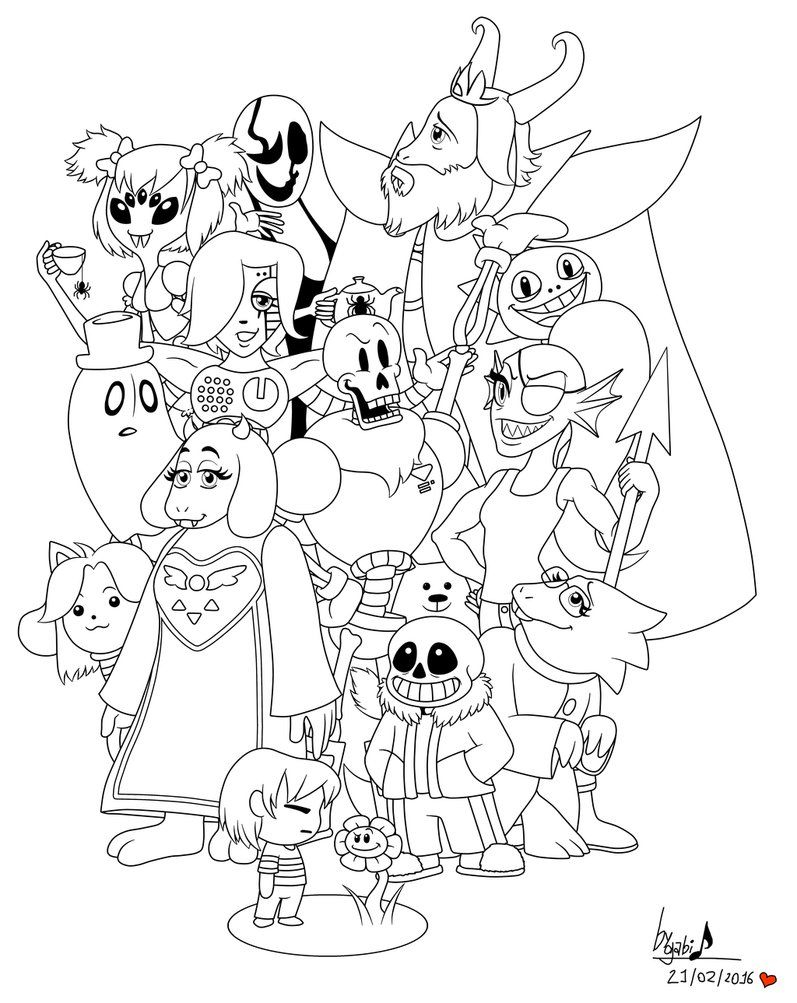 Gravity Falls Coloring Pages - Undertale Coloring Pages Printable Projects to Try