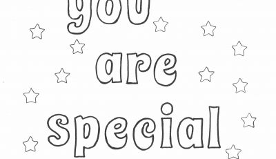 Grid Coloring Pages - You are Special Coloring Page Printables Pinterest