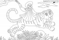 "Gypsy Coloring Pages - Fantastic Jungles Of Henri Rousseau"" Coloring Page Free Printable"