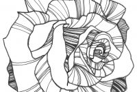Gypsy Coloring Pages - Nicole Illustration Flower Power Rose Coloring Page Colouring