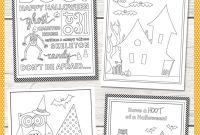 Halloween Candy Coloring Pages - Free Halloween Coloring Pages