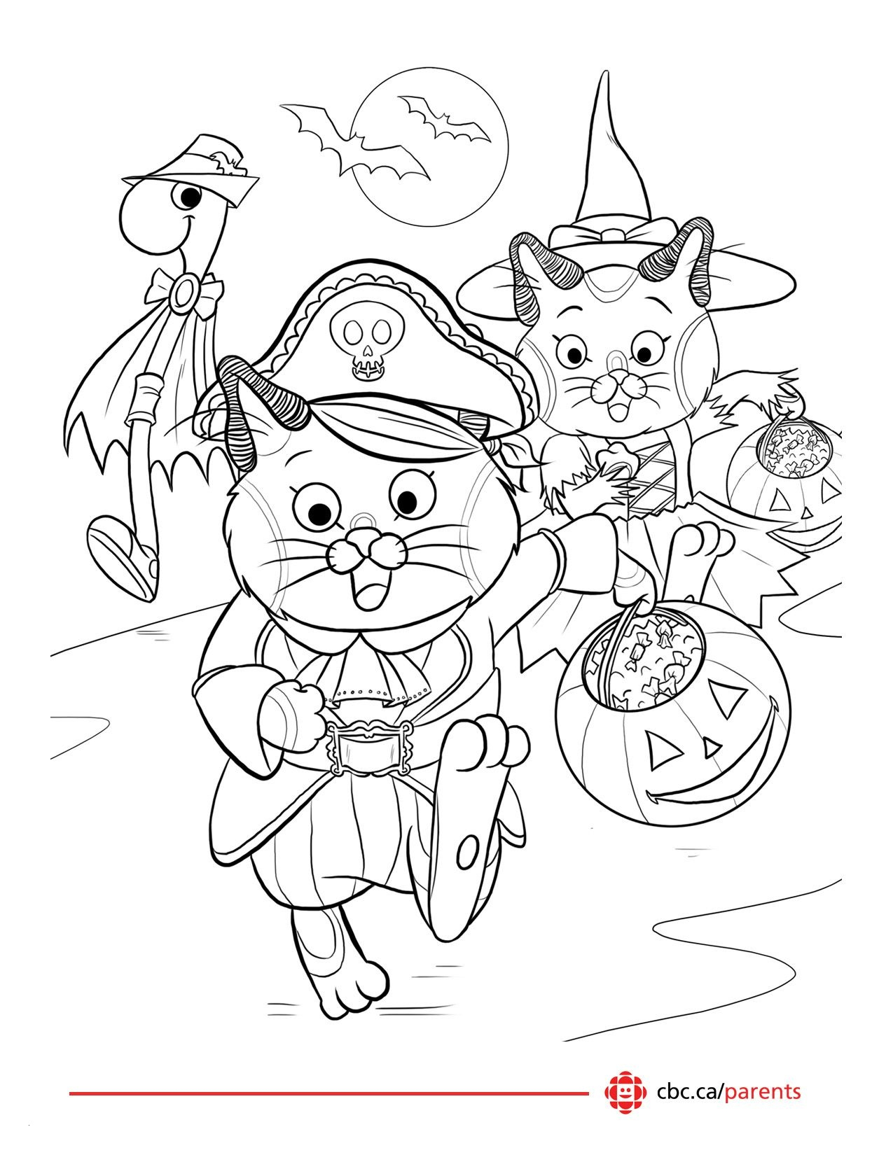Halloween Cat Coloring Pages  Gallery 4c - Free For Children