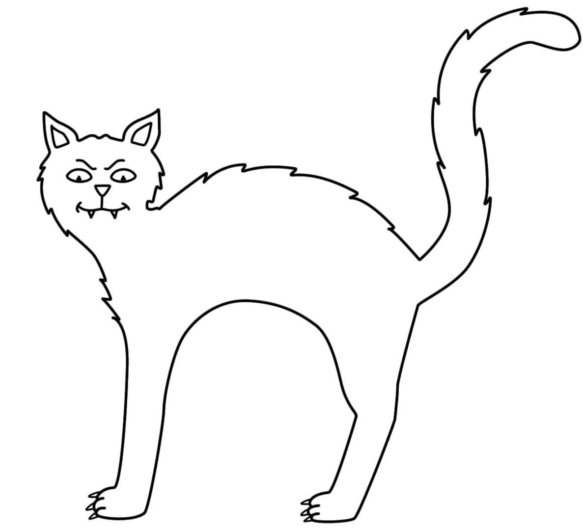 Halloween Cat Coloring Pages  Gallery 16h - To print for your project