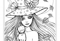 Halloween Cat Coloring Pages - Witch Coloring Pages Free Witch and Cat Coloring Page Halloween