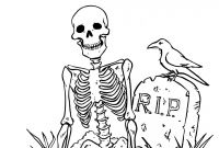 Halloween Skeleton Coloring Pages - Halloween