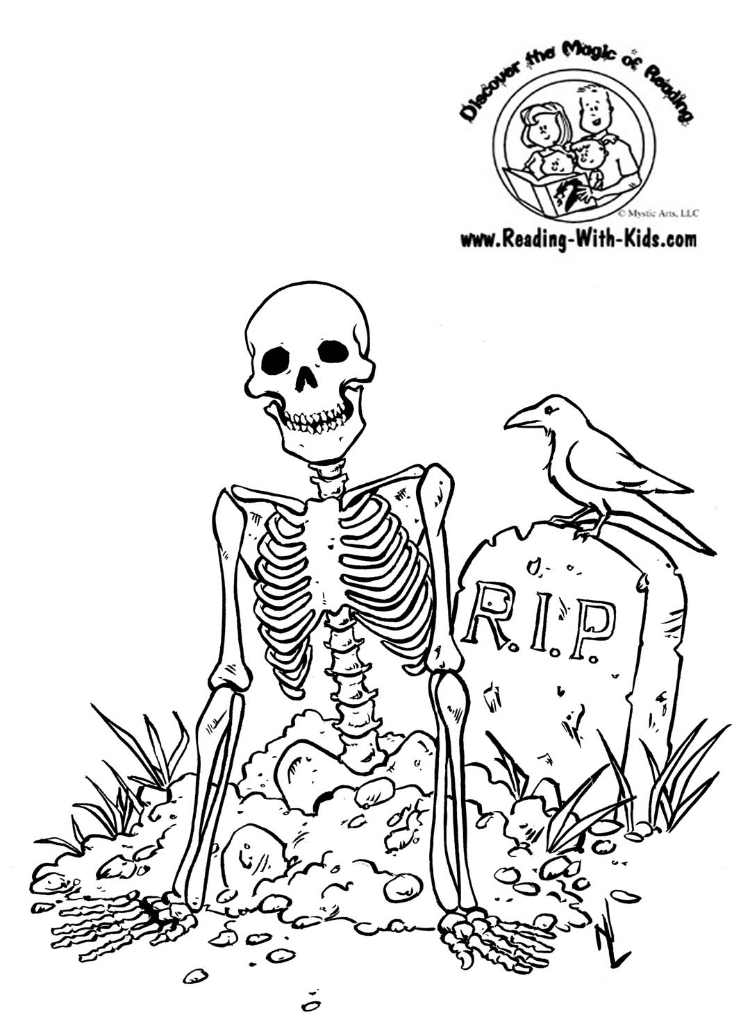 Halloween Skeleton Coloring Pages  Printable 17p - Free For kids
