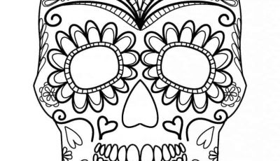 Halloween Skull Coloring Pages - Free Halloween Coloring Pages for Adults & Kids Happiness is Homemade