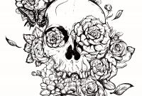 Halloween Skull Coloring Pages - New Skull Coloring Pages for Adults Flower Coloring Pages