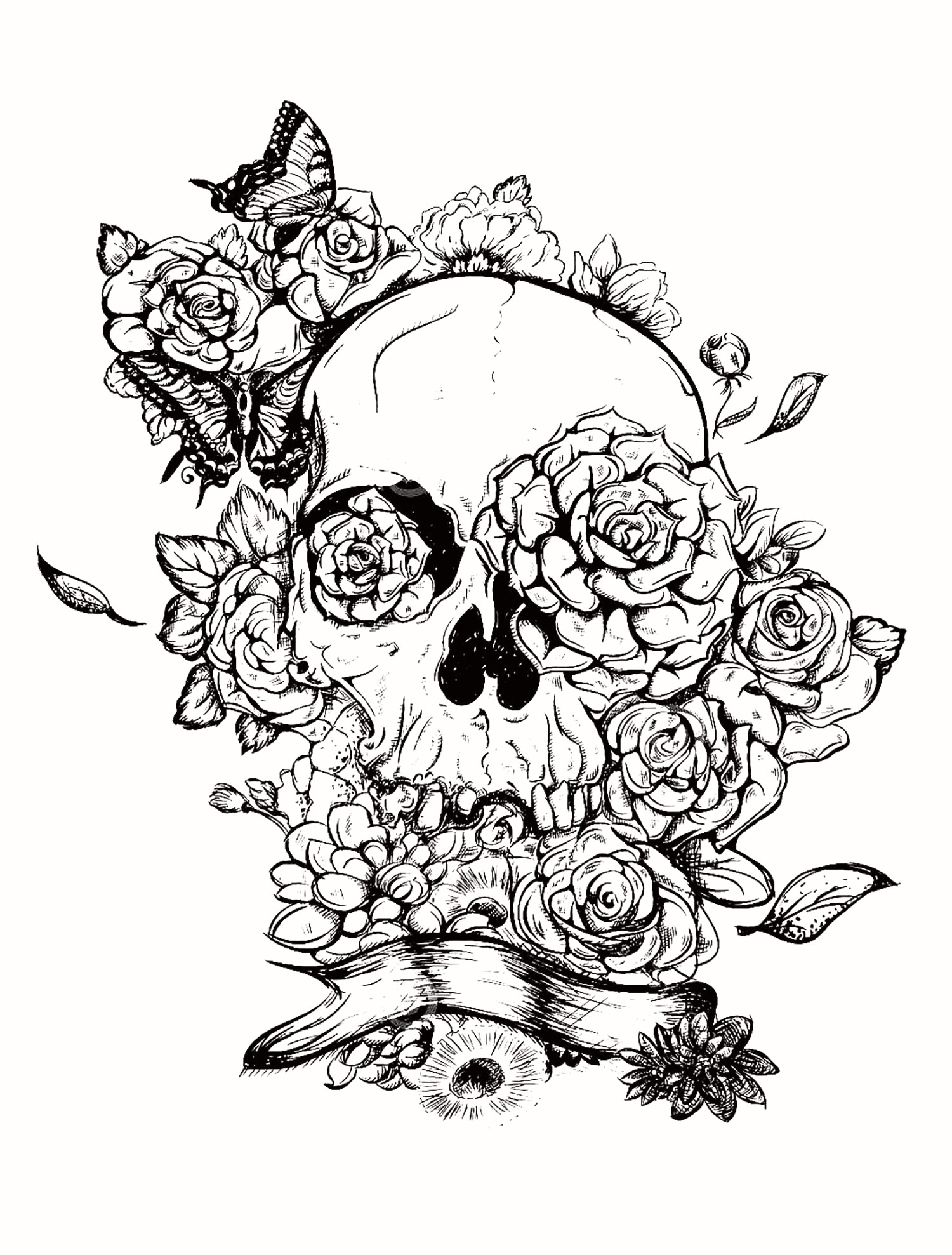 Halloween Skull Coloring Pages Collection | Free Coloring ...