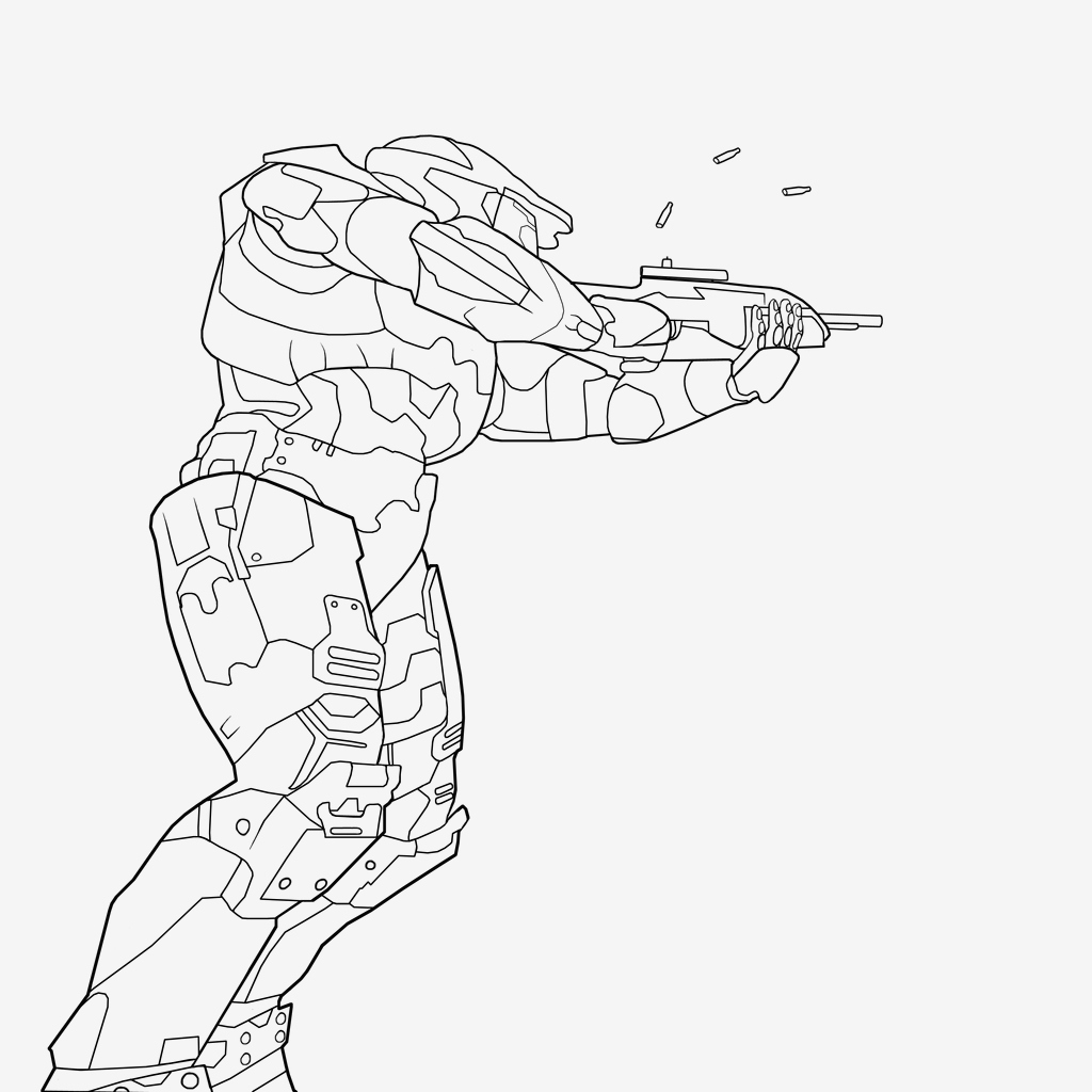 Halo Coloring Pages  Download 4s - Free For kids