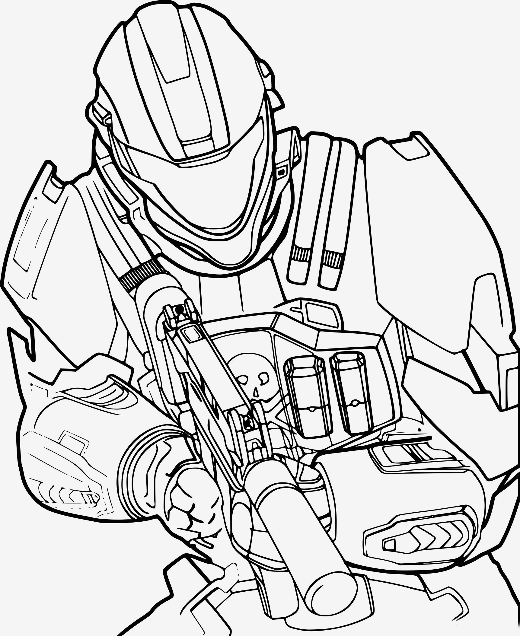 Halo Coloring Pages to Print  Gallery 1r - Free Download