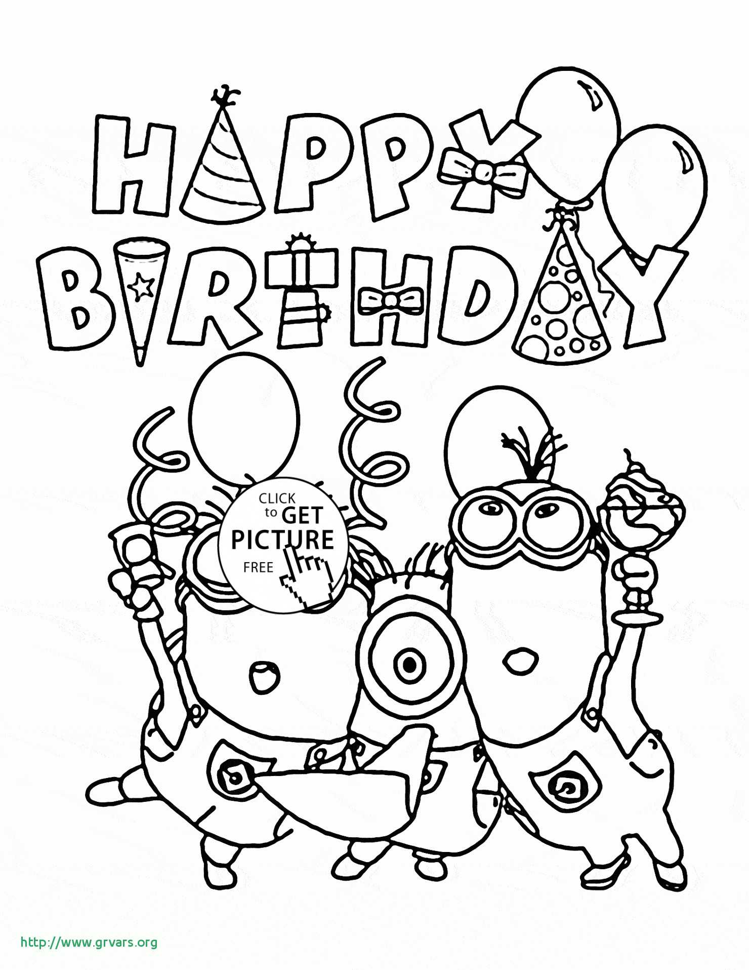 Happy Birthday Card Coloring Pages  Download 9s - Free Download