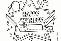 Happy Birthday Card Coloring Pages - Happy Birthday Mom Coloring Pages Free Printable
