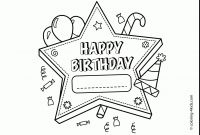 Happy Birthday Coloring Pages - 25 Free Printable Happy Birthday Coloring Pages 7