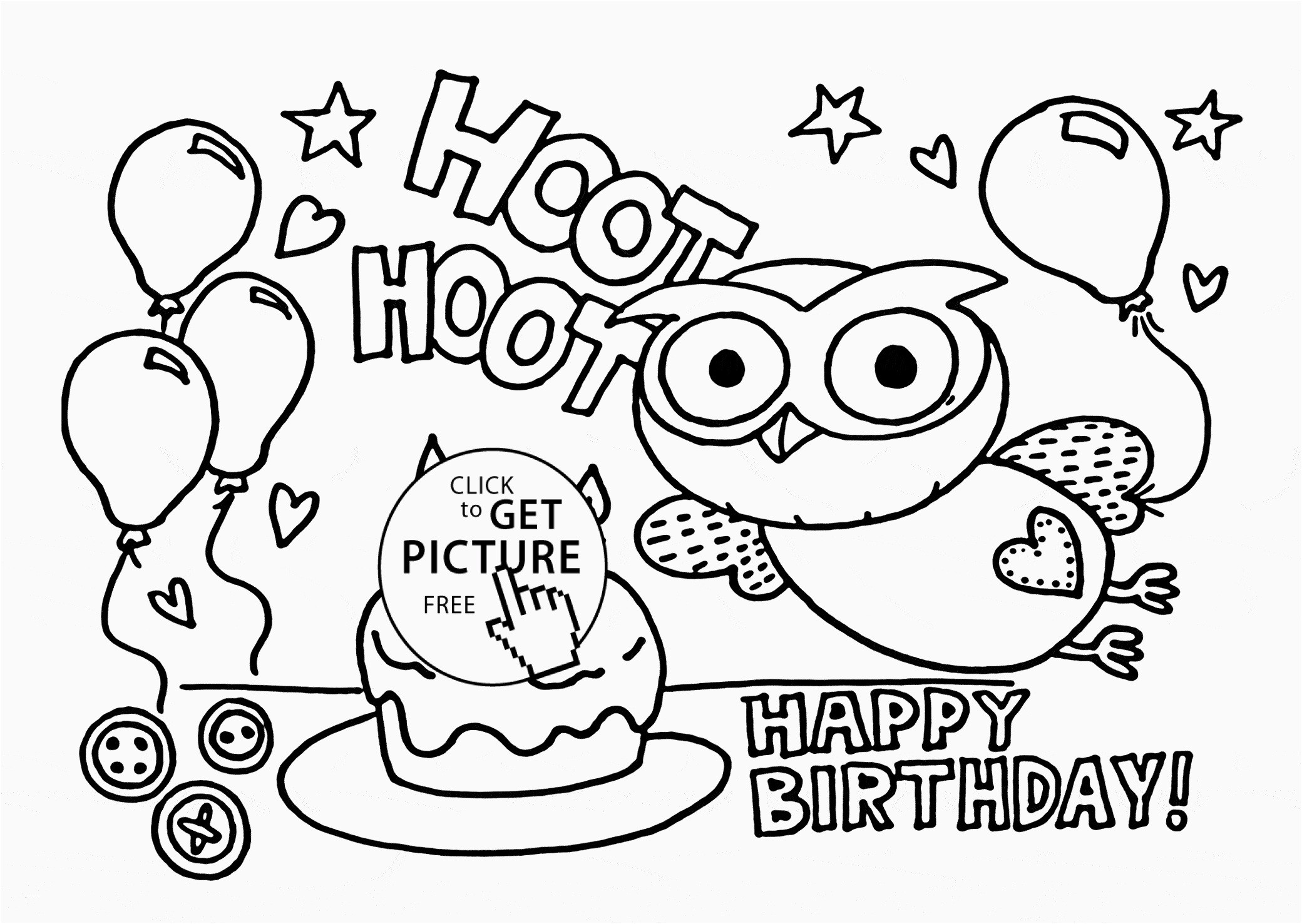 Happy Birthday Coloring Pages  Download 15r - To print for your project