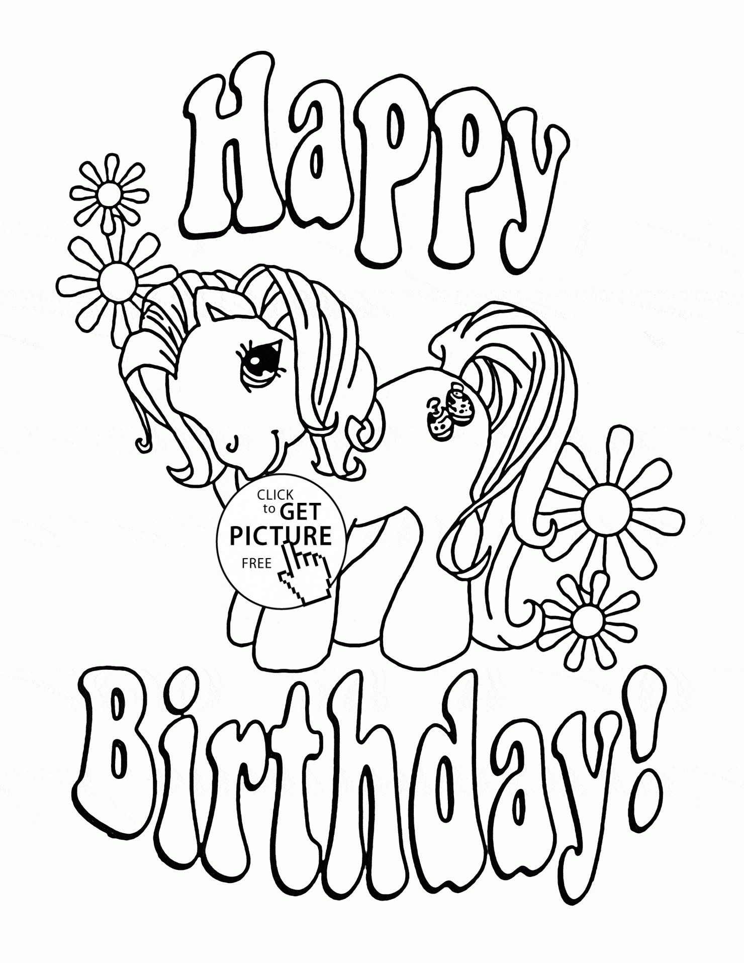 Happy Birthday Mommy Coloring Pages  Gallery 15q - Free For Children