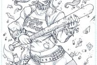 Harley Quinn Suicide Squad Coloring Pages - Harley Quinn Suicide Squad Adult Coloring Page