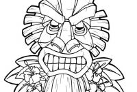 Hawaii Coloring Pages - Unique Tiki Coloring Pages