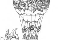 "Hot Air Balloon Coloring Pages - Balloon Coloring Pages 89 Best ¢Å"" Adult Colouring Hot Air Balloons"
