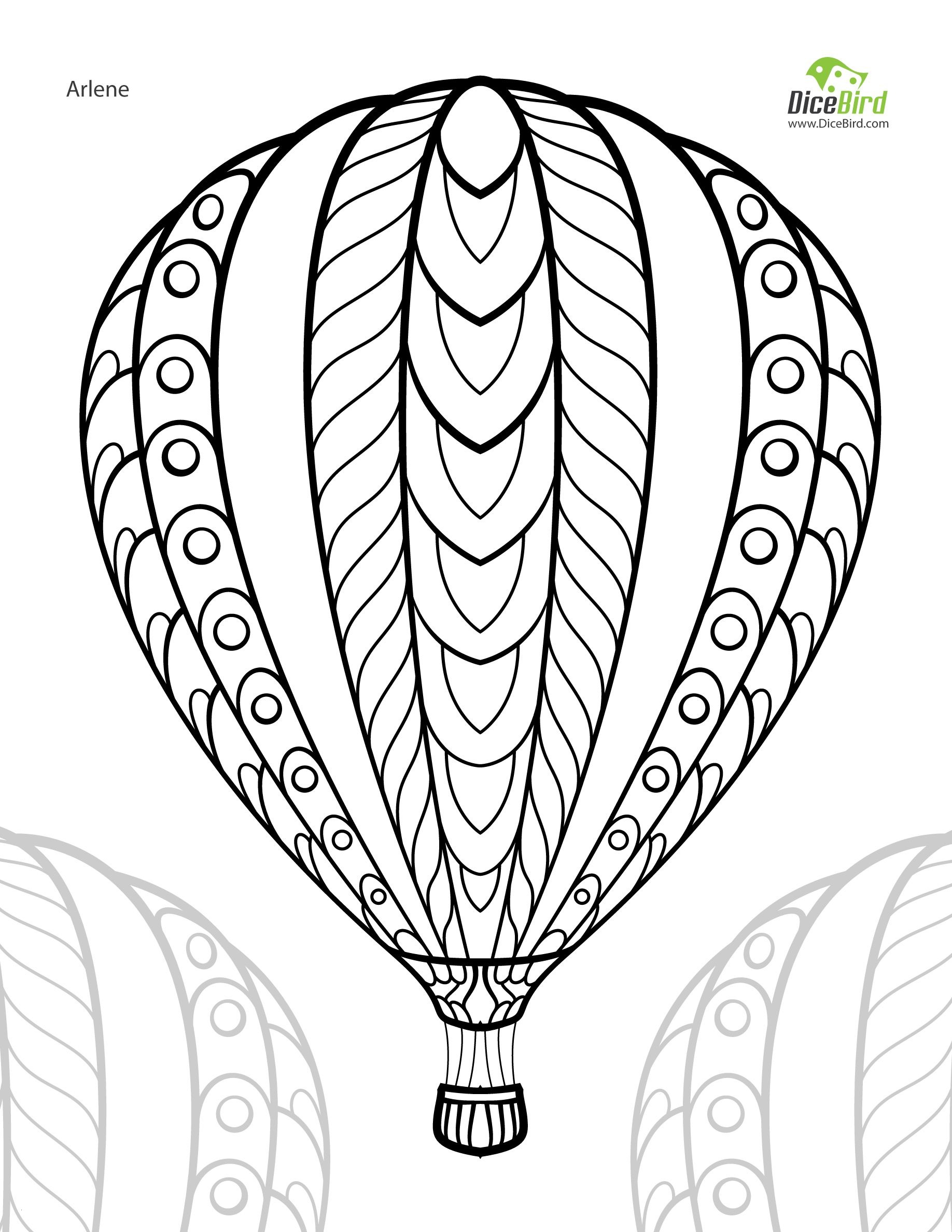 Hot Air Balloon Coloring Pages  Gallery 16m - Free For kids