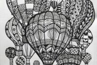 Hot Air Balloon Coloring Pages - Hot Air Balloons Doodle Art Doodle and Zentangle Pinterest