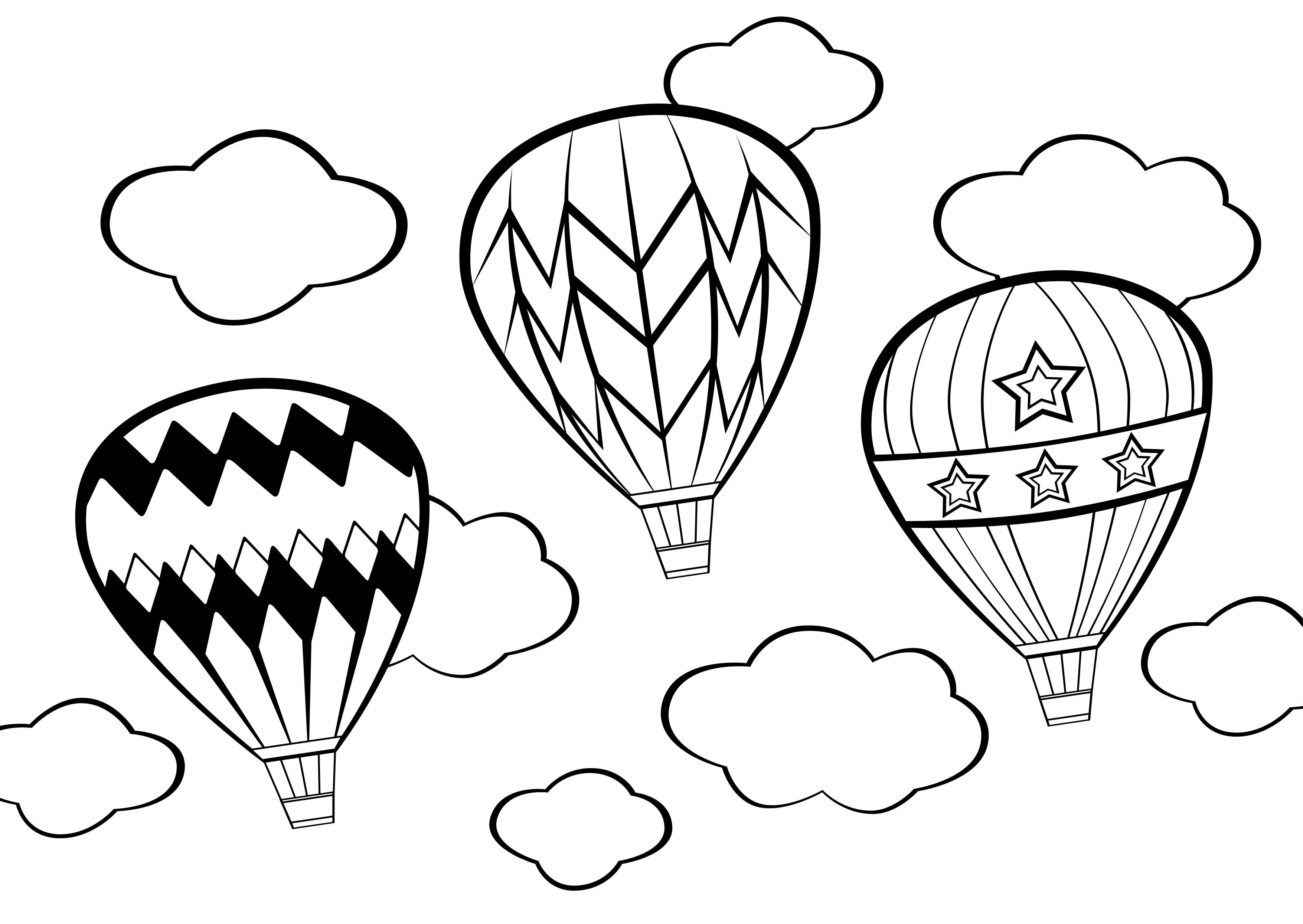 Hot Air Balloon Coloring Pages  Gallery 12p - Free Download