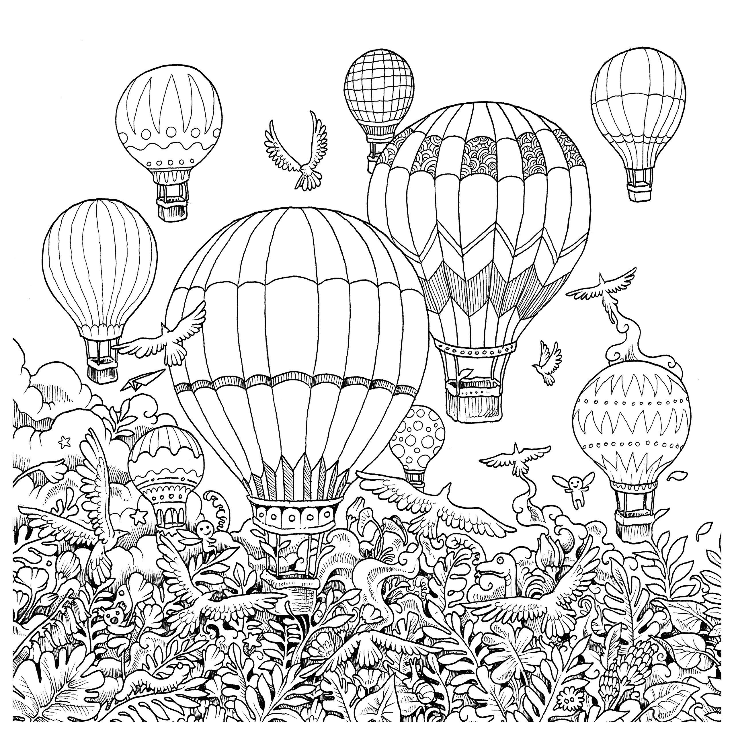 Hot Air Balloon Coloring Pages - Imagimorphia Coloring Pages Coloring Pages Coloring Pages