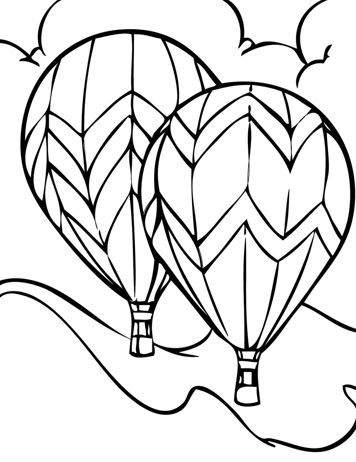 Hot Air Balloon Coloring Pages  Gallery 20m - To print for your project
