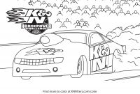 Hot Rod Coloring Pages - K&n Printable Coloring Pages for Kids