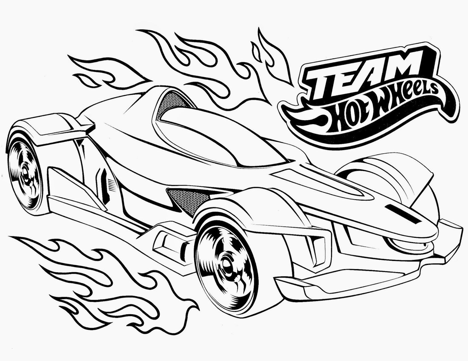 Hot Wheels Coloring Pages  to Print 2a - Free Download
