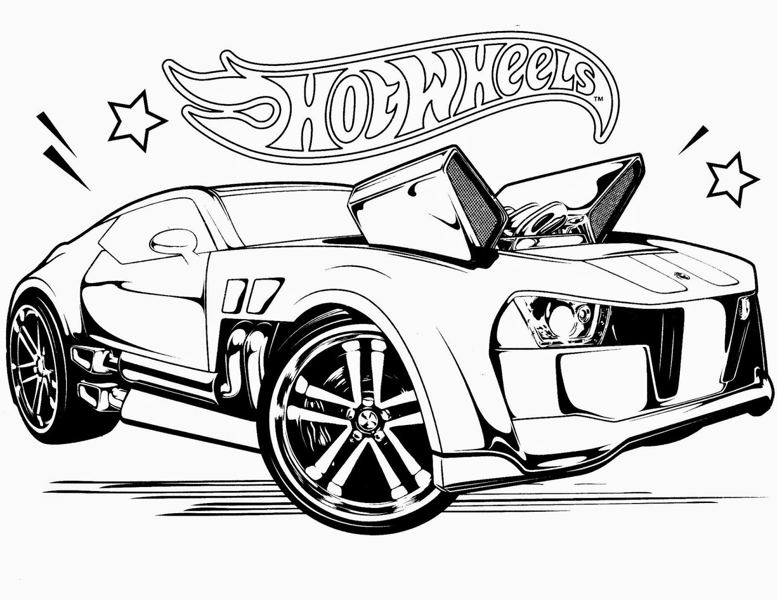 Hot Wheels Coloring Pages  to Print 1g - Free For kids