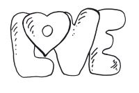 Human Heart Coloring Pages - Cute Love Coloring Pages