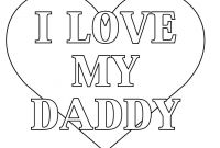 I Love My Daddy Coloring Pages - Fathers Day Card Coloring Pages Free