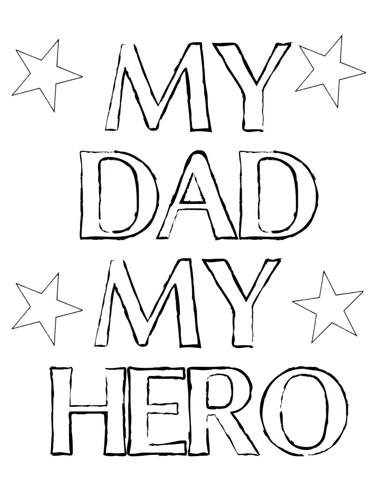 I Love My Daddy Coloring Pages  to Print 5f - To print for your project