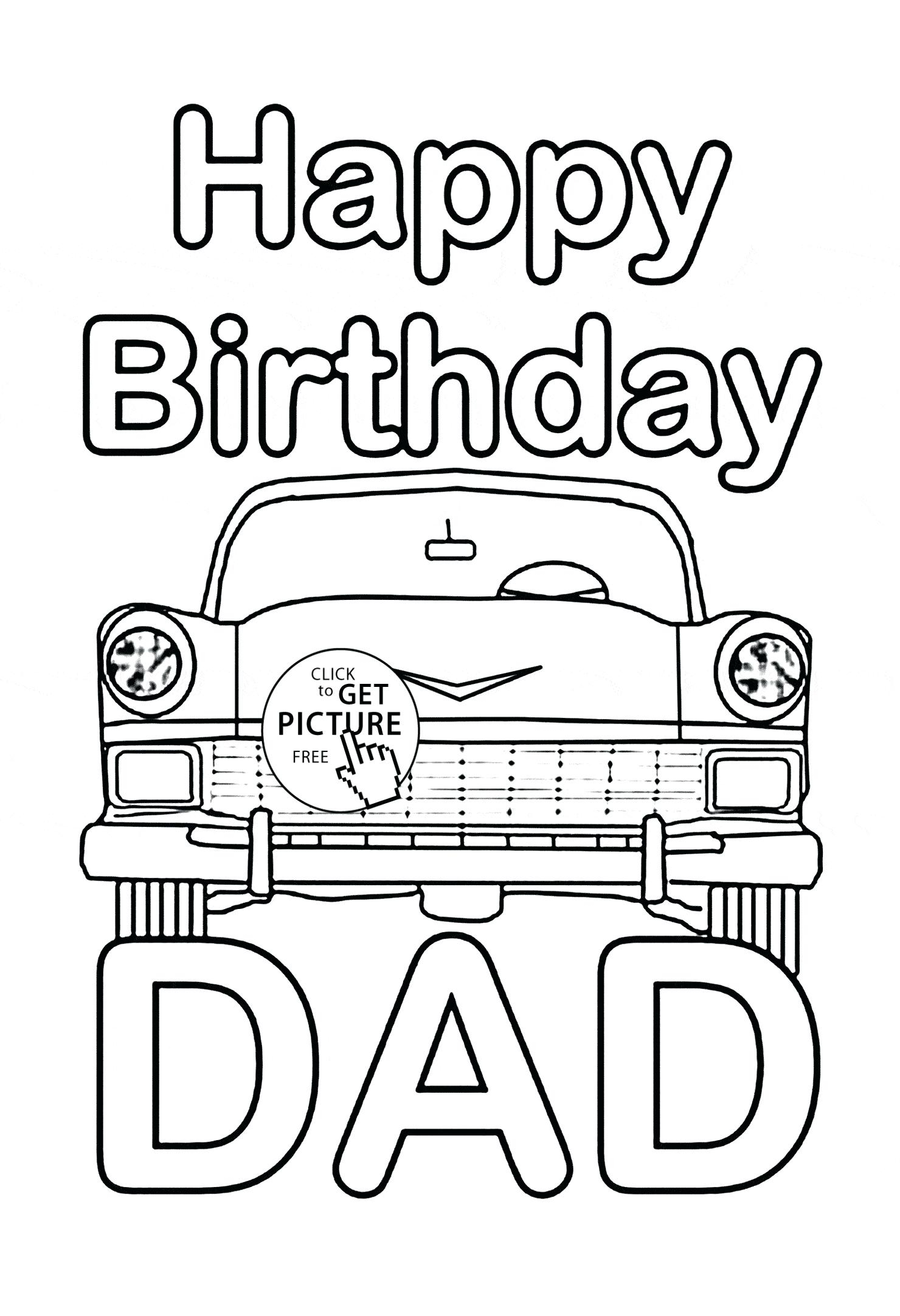 I Love My Daddy Coloring Pages  to Print 10b - Free Download