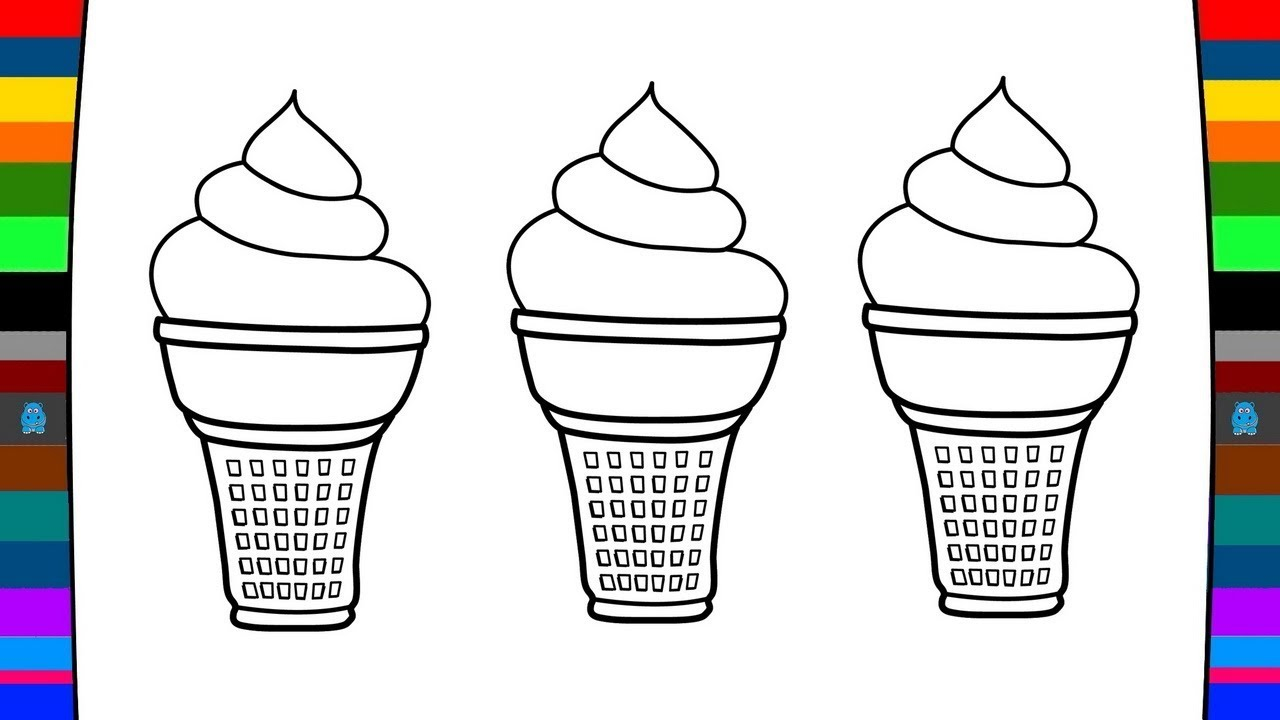 Ice Cream Coloring Pages  Download 4a - Save it to your computer