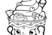 Ice Cream Coloring Pages - Shopkins Icecream Strawberry Coloring Pages Printable Beautiful Page