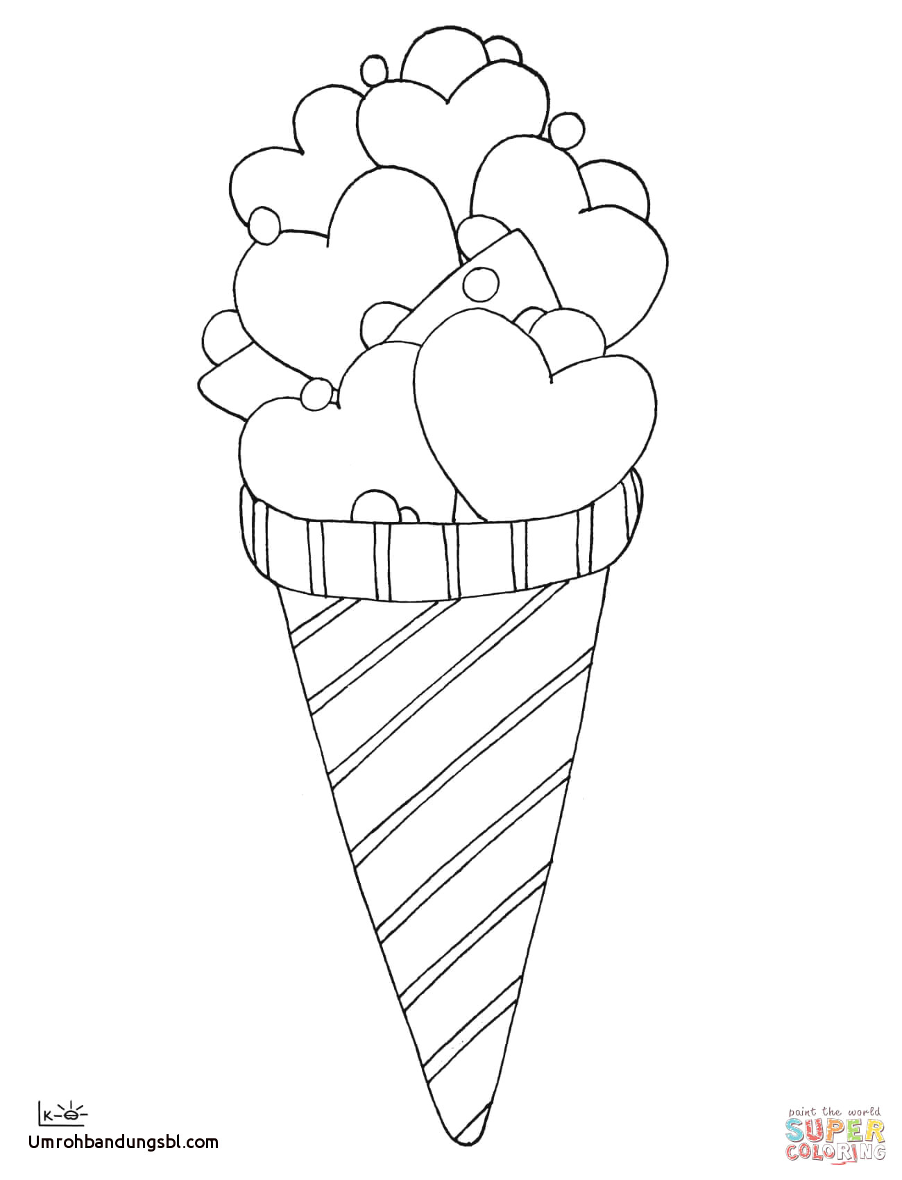 Icecream Cone Coloring Pages  to Print 19g - Save it to your computer