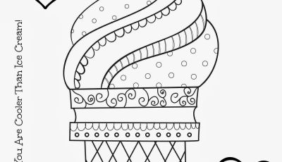 Icecream Cone Coloring Pages - Ice Cream Coloring Pages for Kids A Stitch In Time
