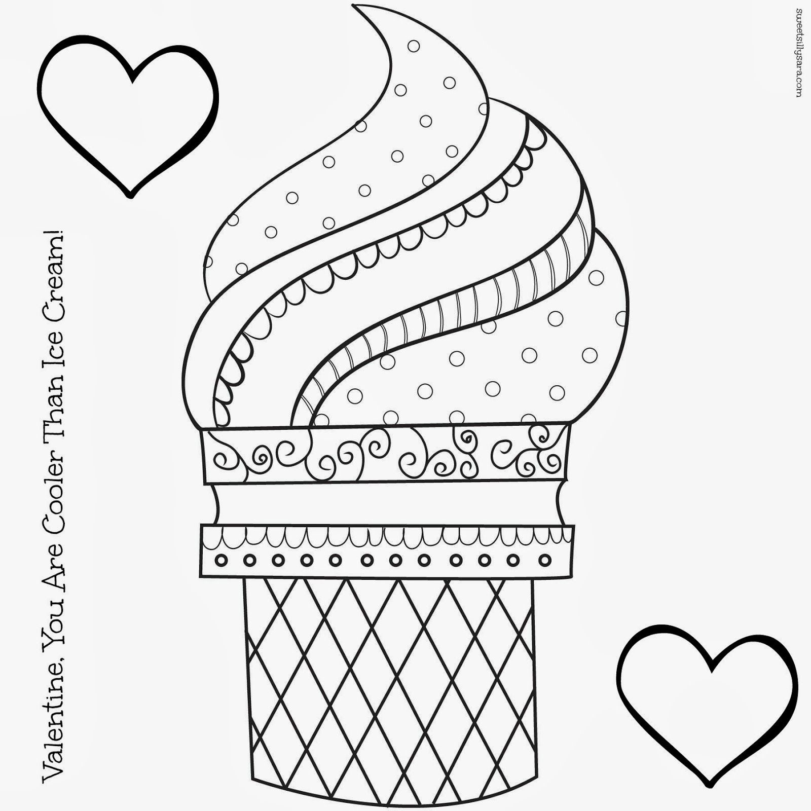 Icecream Cone Coloring Pages  to Print 8k - Free For kids