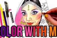 Indian Coloring Pages Printables - Diwali Look 2016 Indian Girl Coloring Page Color with Me
